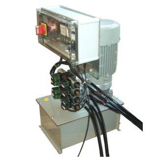AST- 2.0-Top-1, Radlast max.2t,  Achsspieltester hydraulisch für Überflurmontage, mit Hydraulikaggregat