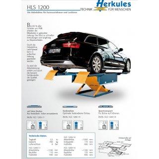 HLS1200, aufliegend, Lackierbetrieb Hebebühne 2,5 t
