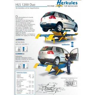 HLS 1200 DUO 2-in-1, aufliegend, Lackierbetrieb Hebebühne 2,5 t Duo