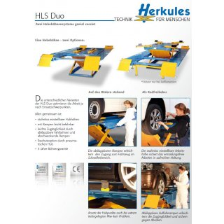 HLS1200 Duo 2-in-1 bodenebener Einbau, Lackierbetrieb Hebebühne 2,5 t Duo