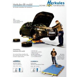 HM1100-01 Lift mobil, aufliegend, Höhe 930 mm,  mit 4 Gummiblöcken 800-105, Hebebühne HM
