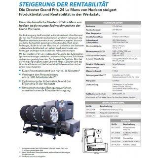 Radwaschstation GP 24 mit Heizstab, Klarspülung, Granulatfilter und zwei Andockeinheiten, vorbereitet für Wasseraufbereitungskit DH-230375