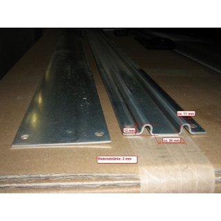 Schienensatz Stahl verzinkt, für SEG IV und V 1,5 Meter (Satz bestehend aus vorderer profilierter Schiene und hinterer glatter Schiene)