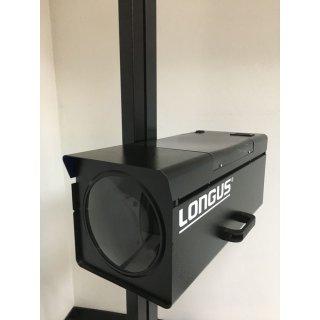 HL-26-DZ mit Laserpointer, drehbare Säule schwarz, Scheinwerfereinstellgerät LONGUS
