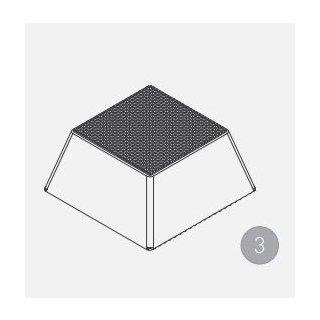 Gummiauflage Höhe 70 mm Pyramide (1 Satz = 4 St.)