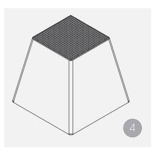 Gummiauflage Höhe 140 mm, Pyramide (1 Satz = 4 St.)