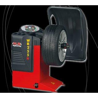 WB 255 N Reifenwuchtmaschine mit elektronischem inneren Raddaten-Erfassungsarm (lediglich Felgenbreite muß manuell eingegeben werden) M&B